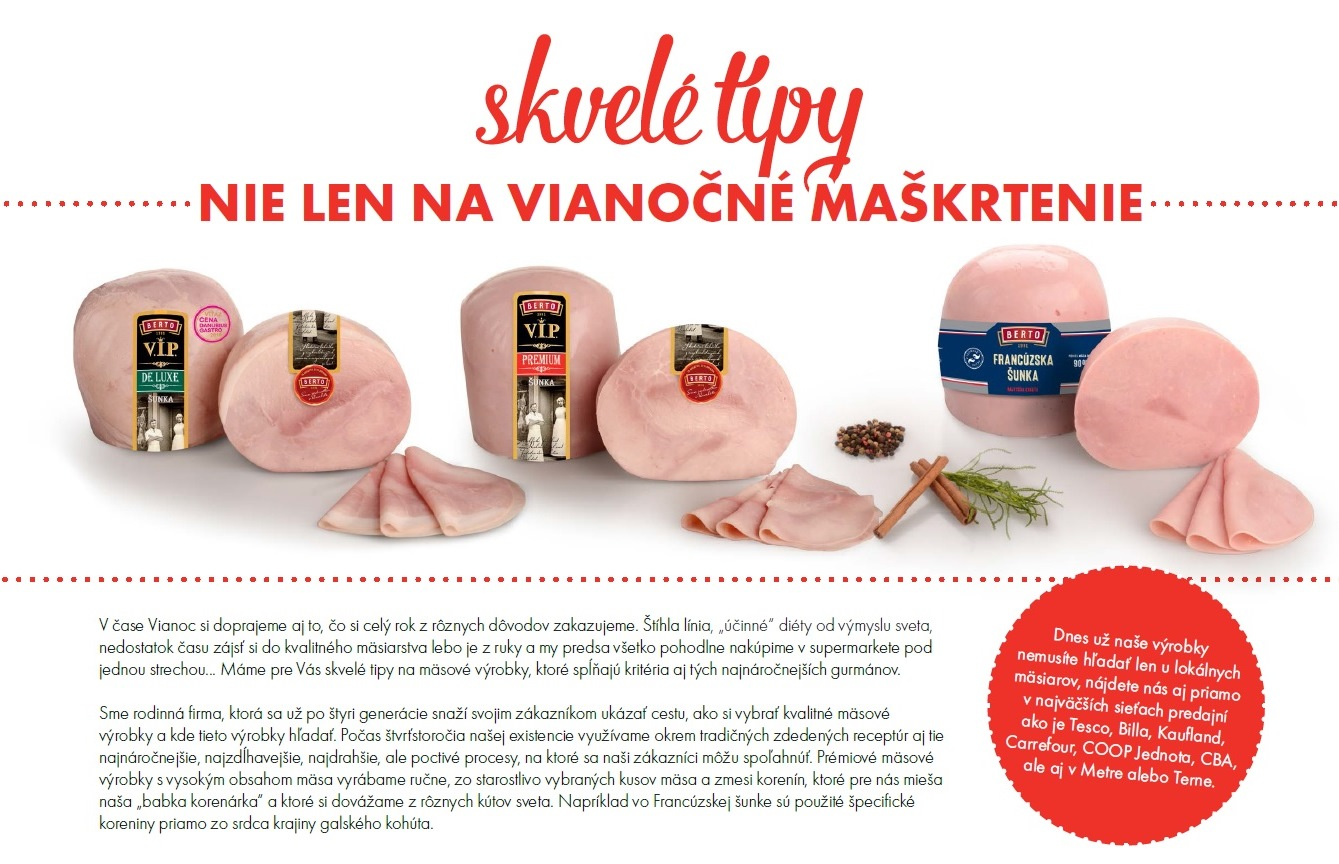 Skvelé tipy nie len na vianočné maškrtenie - Berto SK 6ef0e8bd312
